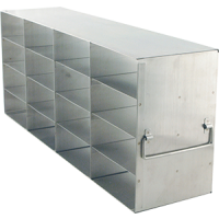 4 x 4 Upright Freezer Rack for standard 2 inch boxes