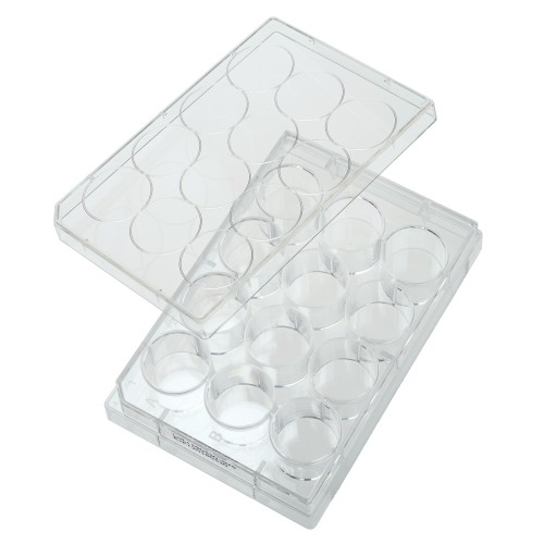 12 Well Non-treated Plate with Lid, Individual, Sterile