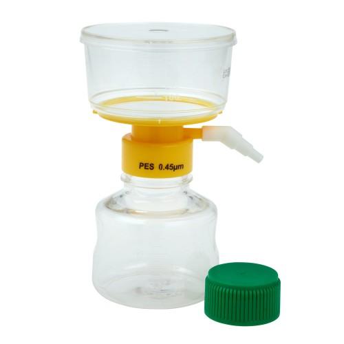 250mL Filter System, PES Filter Material, 0.45μm, 50mm, Sterile
