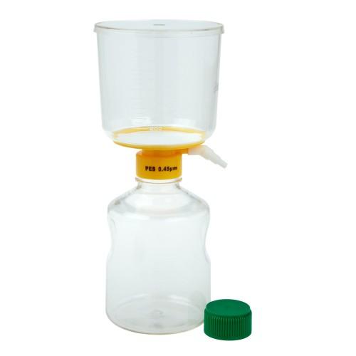 1000mL Filter System, PES Filter Material, 0.45μm, 90mm, Sterile