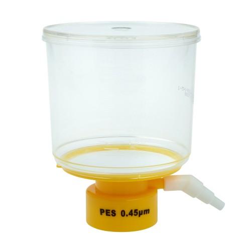500mL Bottle Top Filter, PES Filter Material, 0.45μm, 75mm, Sterile