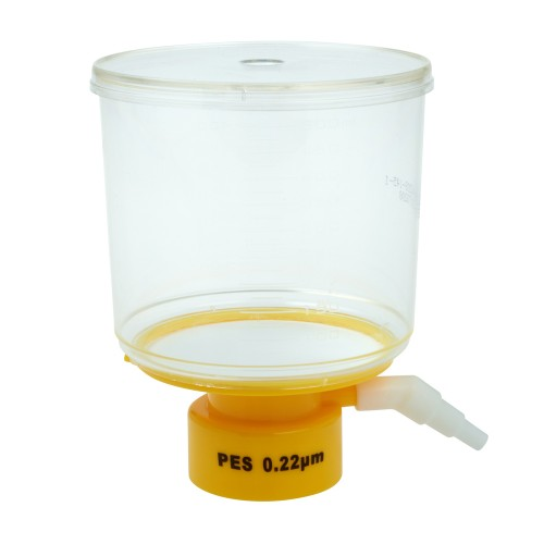 500mL Bottle Top Filter, PES Filter Material, 0.22μm, 75mm, Sterile