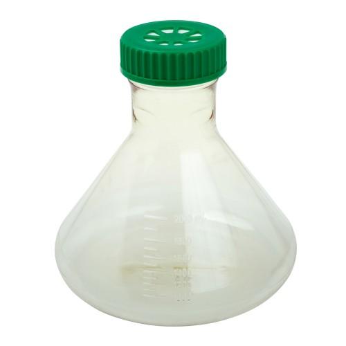 2L Fernbach Flask, Vent Cap, Plain Bottom, Sterile