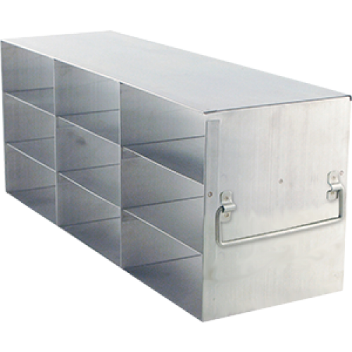 3 x 3 Upright Freezer Rack for standard 2 inch boxes