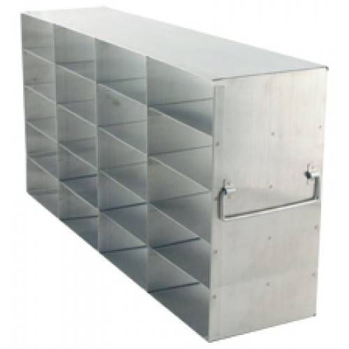 4 x 5 Upright Freezer Rack for standard 2 inch boxes
