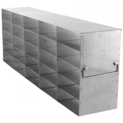 5 x 5 Upright Freezer Rack for standard 2 inch boxes