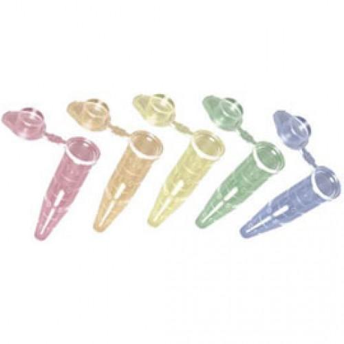 1.5mL Rainbow SNAPLOCK Microcentrifuge Tubes, 500/pack, 10 Packs/Case