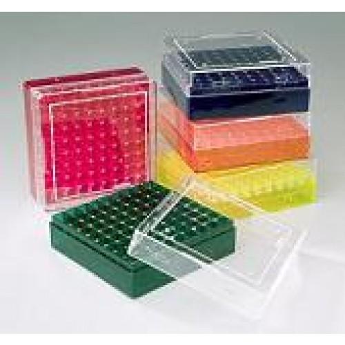 CryoFreezer 81 well Tube Racks, Assorted Colors, 5 Racks/Pack, 4 packs/Case