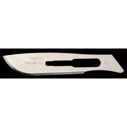 C/S steel blade, 100/box, Size 21