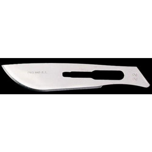 C/S steel blade, 100/box, Size 22