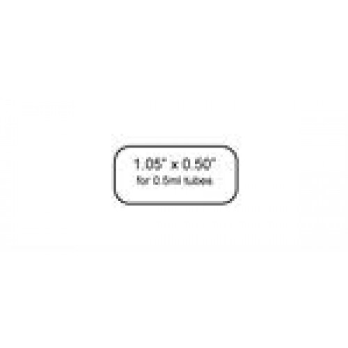 "DT Cryo-Tags 1.05 x 0.50""  1,000/roll - WHITE"