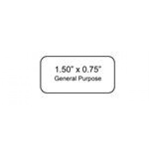 """DT Cryo-Tags 1.50 x 0.75""""  750/roll - WHITE"""