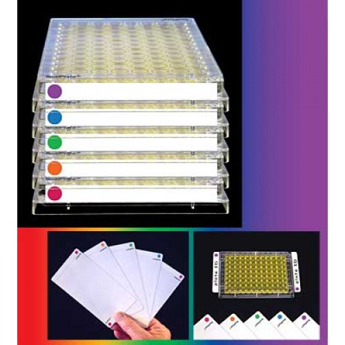 SealPlate,ColorTab,Blue, 100/cs