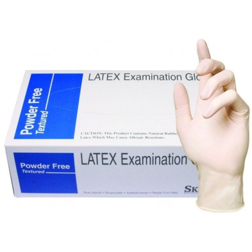 Large SkinTX Latex Gloves, 100/box, 10 boxes/case
