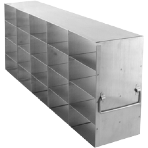 "Upright Freezer Rack for 3"" Boxes, 5 x 4, 1 ea."