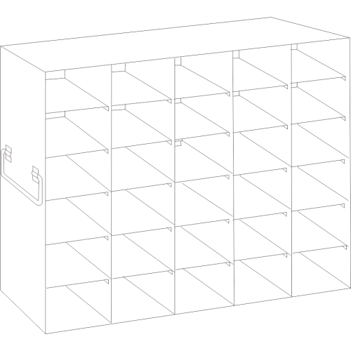 5 x 6 Upright Freezer Rack for standard 2 inch boxes