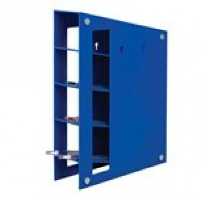 ABS 4 slot Pipet Rack , Blue